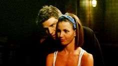 David Boreanaz and Charisma Carpenter Angel Show, Charisma Carpenter, David Boreanaz, In Another Life, Joss Whedon, Buffy The Vampire Slayer, Classic Tv, Movies And Tv Shows, Love Story