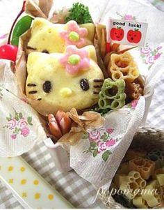 Pancake kitty bento