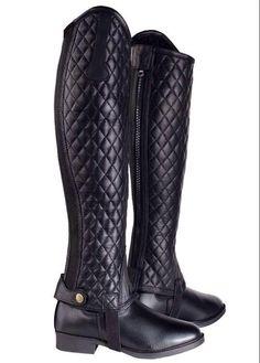 HRP Equestrian. Diamond stitch leather chaps