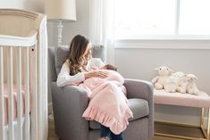 MacKenlee Faire Lanter baby girl pink and grey gray nursery reveal baby room bedroom neutral angela lanter hello gorgeous home decor inspo inspiration Celebrity Nurseries, Modern Nursery Furniture, Angela Lanter, Neutral Bedrooms, Pebble Grey, Birth Announcement Photos, Newborn Poses, First Mothers Day, Hello Gorgeous