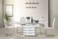 FANO+H790 SIGNAL Dining room furniture set. Elements of the collection available in the white colour. Polish Signal Modern Furniture Store in London, United Kingdom #furniture #polish #signal #diningroom