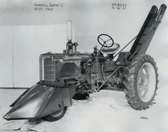 Farmall Super C Tractor Equipped with Corn Picker