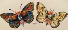 Just Watching the Wheels Go Round: Moth Verses Butterfly Symbolism Moth Tattoo Design, Tattoo Designs, Tattoo Ideas, Moth Tattoo Meaning, Butterfly Symbolism, Grafic Art, Traditional Tattoo Flash, Vintage Fairies, Flash Art