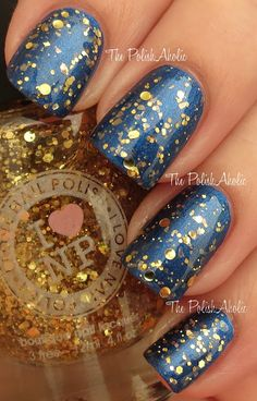 Love the gold on blue