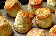 Gregoire's Cheese Scones (I've been using the be-ro recipe because it's easy with a kid but the rise on these looks incredible! Bbc Good Food Recipes, Baking Recipes, Yummy Food, E Cooking, Savory Scones, Fruit Scones, Savoury Biscuits, Cheese Biscuits, Savoury Baking