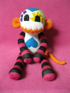 sugar skull stuffed monkey... awesome