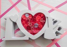 pink love heart love forever wedding by WonderCraftShop on Etsy