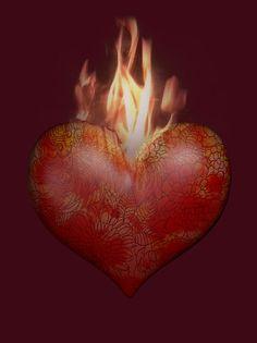 Wackelbild Postkarte Flaming Heart Lenticular Grußkarte Liebe kaufen bei Hood.de