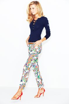 WOW Factor: Paisley power. Lauren Ralph Lauren #jeans #prints BUY NOW!
