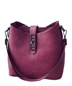 Trendy Bag, Solid Color and PU Leather Design Shoulder Bag Hobo For Women, Zipper & Hasp Closure Type