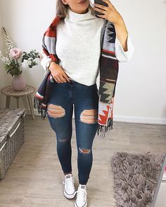 "b0ea3d3bc94 ... Instagram  ""🍂 Fall outfits are the best 🍂 👚 Jumper -  asos 🧣Scarf -   asos only £7!!! 👖Jeans -  fitjeans (doing a full review of these on  YouTube…"""