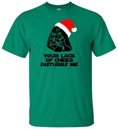 Your Lack Of Cheer Disturbs Me - Star Wars T Shirt - Darth Vader In Santa Hat - Christmas T Shirt Disney - Adult Unisex Gildan - Episode 7 by IsawThatOnPinterest on Etsy #yourlackofcheerdisturbsme #darthvaderchristmas #starwarstshirt #starwarschristmas #christmas #christmastshirt #merrychristmas #christmas2015 #disney #disneytshirt #isawthatonpinterest #funnytshirt #theforceawakens #episodevii #episode7 #theforce #jedimaster #jedi #disneychristmastshirt #santahat #santaclaus #darthclaus