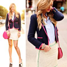 Caitlin from A Little Dash of Darling in our Malibu Blazer in True Navy