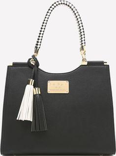 •Website: http://www.cuteandstylishbags.com/portfolio/bebe-blk-rope-handle-tote/ •Bag: bebe BLK Rope Handle Tote