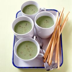 Broccoli is at its peak from October through April -- that's the best time to puree it in a soup like this one.