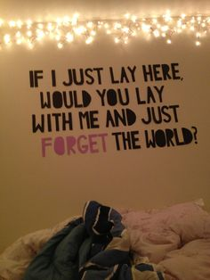 FONT quotes for the bedroom | quote chasing cars snow patrol bedroom wall wall quote forget the ...