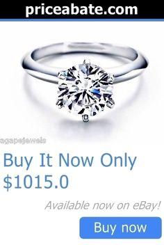 Wedding rings: 3.00Ct Round Cut Engagement Ring 14K Solid Gold BUY IT NOW ONLY: $1015.0 #priceabateWeddingrings OR #priceabate