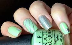 Love the color in this nail design