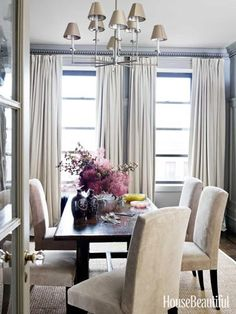 Neutral dining room. Design: Alexander Doherty. housebeautiful.com. #neutral #dining_room