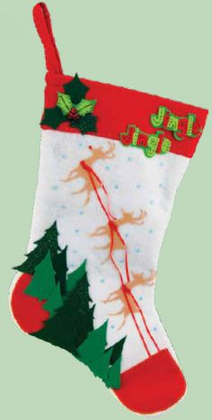 New Image Group Reindeer Christmas Stocking