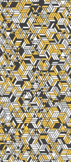 Russfussuk 'Oz' H7A #pattern #patterndesign #surfacepattern #patternprint #geometric #hexagon #yellow #brick #road #generative #geometria #padrões #russfussuk