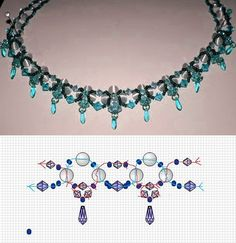 Free Bead Necklace Pattern                                                                                                                                                                                 More