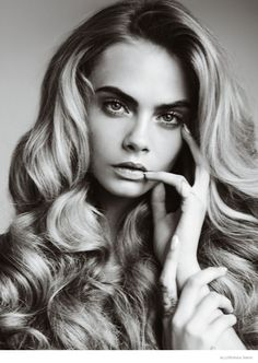 Cara's Beauty--Following up the cover, Cara Delevingne strips down to basics—beauty basics that is, for the October issue of Allure Magazine. The English m