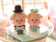 Want more wedding cake topper inspiration? Go Wedding Cake + Topper Crazy 9 Wacky Cake Toppers 15 Favorite Handmade Cake Toppers