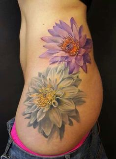 Floral tattoo- like the detail n color