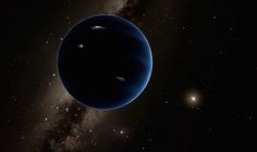"""A giant planet similar to Uranus or Neptune may orbit the sun in the solar system's outer reaches. """"Planet Nine"""" is shown here in an artist's impression that includes hypothetical lightning on the planet's surface. The bright star to the right is the sun."""