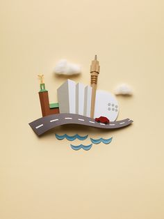 Paper objects on Behance