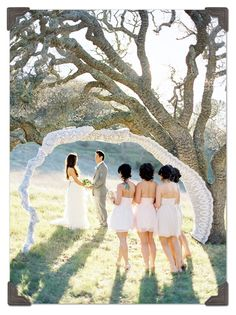 Beautiful alternative wedding alter