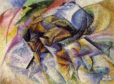 Futurism    ------------------------------------Umberto Boccioni: Dinamismo de un ciclista (1913)