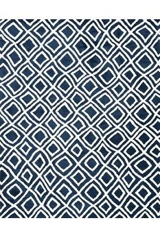 """Charlotte Collection CT-02 NAVY Power Loomed 100% Polyester 