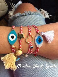In Christina Christi Jewels store you can see more than 35 designs in Women's Bracelets. Friend Bracelets, Friendship Bracelets, Bangle Bracelets, Gold Bangles, Handmade Bracelets, Red And White, Charmed, Jewels, Handmade Products