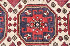 Lesghi Star Kazak Rug 4 ft. 8 in. by 2 ft. 8 by Devildingocafe, $250.00