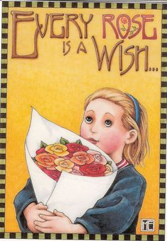 Every Rose Is A Wish Bouquet Kitchen Garden Fridge Magnet Mary Engelbreit Art #AnyOccasion