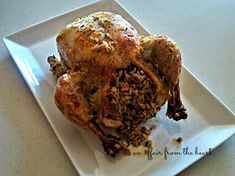Easy Baked Chicken Stuffed with Long Grain and Wild Rice | An Affair from the Heart