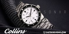 Collins Sonar Dive Watch Review Watch Companies, Sound Waves, 316l Stainless Steel, Luxury Watches, Cool Watches, Michael Kors Watch, Diving, How Are You Feeling, Fancy Watches