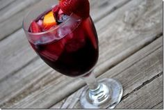 "The Best Sangria Ever – SO GOOD! I used ""sweet red"" wine and the fruits I used were apple, orange, lime, lemon, pineapple and strawberries. The Best Sangria Ever - Fresh Drinks Red Wine Sangria, Summer Sangria, Summer Drinks, Fun Drinks, Beverages, Cocktail Drinks, Mixed Drinks, Cold Drinks, Alcoholic Drinks"