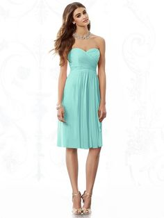 After Six 6695 Bridesmaid Dress in Turquoise in Chiffon