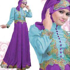 Gamis Satin Princess Biru Ungu S78 Online - http://www.butikjingga.com/gamis-satin-princess-biru-ungu-s78