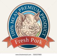 Pig Vetores e Vetores clipart Stock   Shutterstock