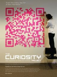 Post It #QR Code | The Curiosity Project: Scan for daily inspirations