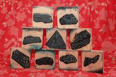 9 Rubber Stamps VINTAGE different means of par lojaVintage sur Etsy, €31,68