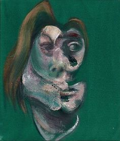 FRANCIS BACON study for head of isabel rawsthorne and george dyer 1967 i) titled and dated 'Study for Head of Isabel Rawsthorne 1967'(on the reverse) ii) titled and dated 'Study for Head of George Dyer 1967'(on the reverse) oil on canvas, in two parts each: 14 x 12in. (35.5 x 30.5cm.)