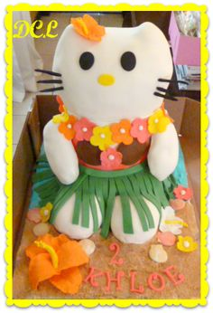 Hello Kitty Luau cake by D'lish Cupcake Lounge