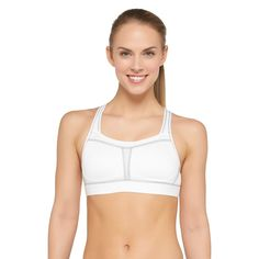 Women's High Support Sports Bra With Molded Cup True White 40C - C9 Champion
