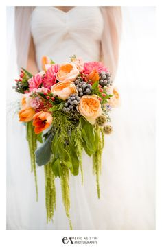 Fairwinds Estate Lake Tahoe Wedding. Pink, Sage, Green, Coral weddin bouquet