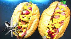 Hotdog  Niko's kitchen.